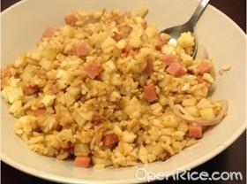 馬鈴薯火腿蛋炒飯