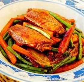 雞翅燒菜豆