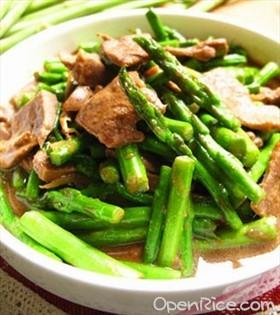 麻油蘆筍豬肝