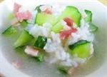 黃瓜培根粥