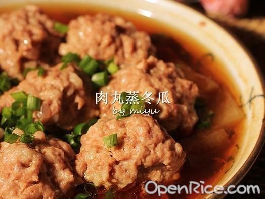 肉丸蒸冬瓜