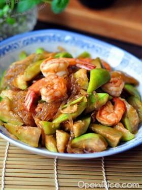 絲瓜炒大蝦