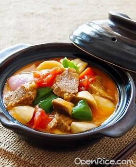 番茄蘑菇燉牛肉