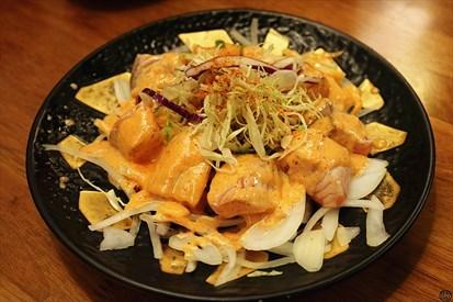 明太子炙燒鮭魚