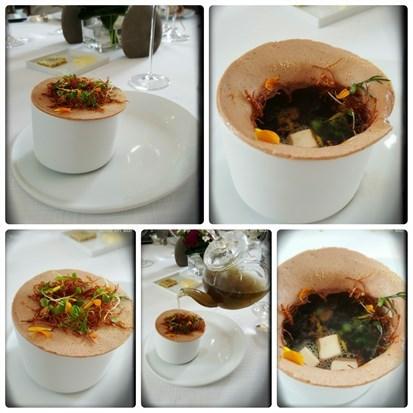 鮮鵝肝/芥菜心/香草